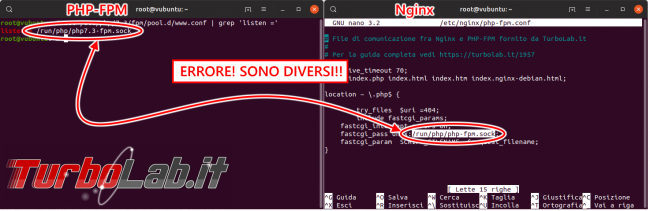 Guida definitiva Nginx PHP 8 Ubuntu CentOS: come attivare, installare, configurare PHP-FPM Nginx Linux - nginx php-fpm socket errore