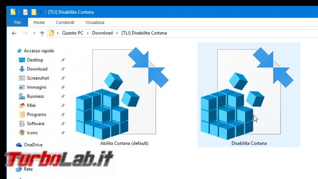 Guida: disabilitare Cortana Windows 10 1607 Anniversary Update (AllowCortana) - disabilita cortana reg