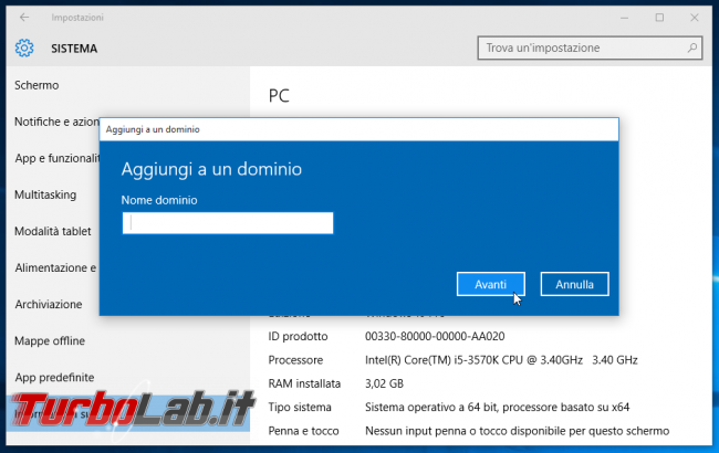 Guida edizioni Windows 10: quali differenze Windows 10 Home, Windows 10 Pro Windows 10 Enterprise? - windows 10 aggiungi a dominio