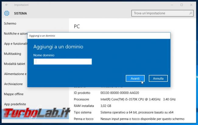 Guida edizioni Windows 11 - Quale scegliere? Quali differenze Windows 11 Home, Pro, Workstation, Education, Enterprise? - windows 10 aggiungi a dominio