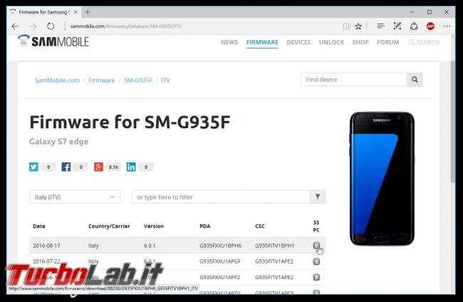 Guida facile Odin (Samsung Galaxy S, Note, , Tab): come flashare/installare ROM Android semplicità - sammobile firmware galaxy s7 edge