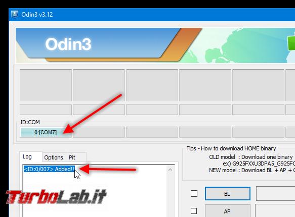 Guida facile Odin (Samsung Galaxy S, Note, , Tab): come flashare/installare ROM Android semplicità - samsung odin 1 connesso