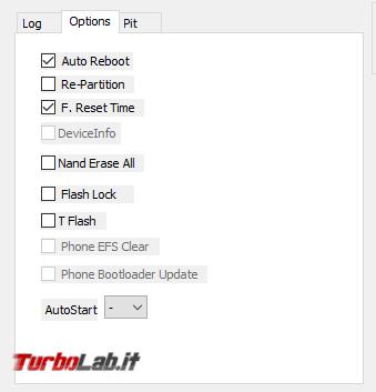 Guida facile Odin (Samsung Galaxy S, Note, , Tab): come flashare/installare ROM Android semplicità - samsung odin 3 options