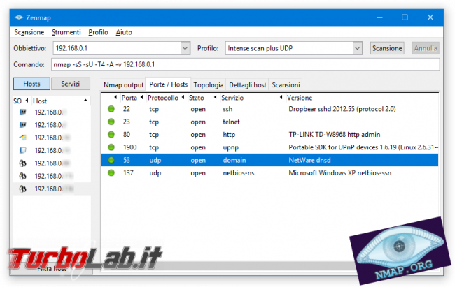 Guida facile port scan Nmap: come scoprire dispositivi connessi rete ed analizzare porte aperte - nmap zenmap spotlight