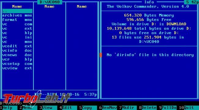 Guida FreeDOS, sistema operativo clone MS-DOS