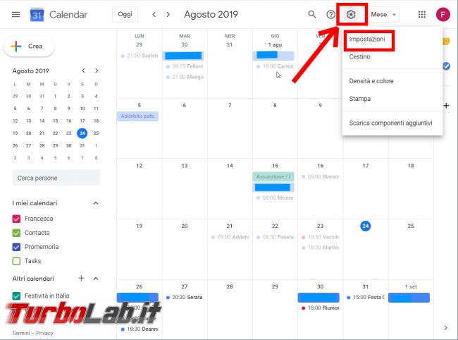 Guida Google Calendar: come bloccare strani appuntamenti inviti-truffa - FrShot_1566630838
