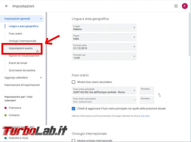 Guida Google Calendar: come bloccare strani appuntamenti inviti-truffa - FrShot_1566630859