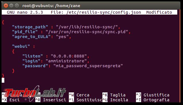 Guida: installare Resilio Sync (BitTorrent Sync) server Linux tramite linea comando (CentOS/Ubuntu): accettare connessioni remoto interfaccia web, attivare HTTPS, limitare indirizzi IP - Schermata del 2016-10-14 10-37-44