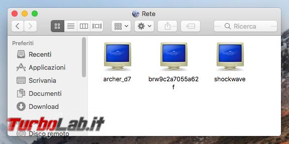 Guida Mac: come accedere cartelle condivise rete locale (LAN)