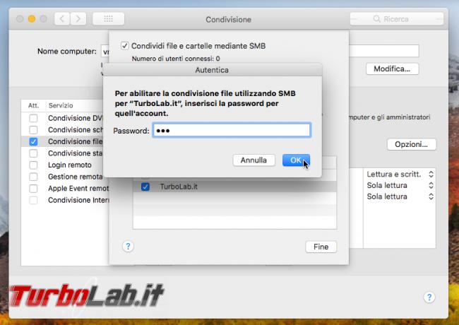 Guida Mac: come condividere cartella rete locale (LAN) macOS 11