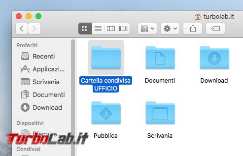 Guida Mac: come condividere cartella rete locale (LAN) macOS High Sierra
