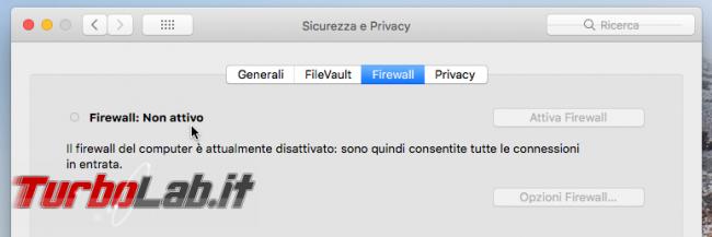 Guida Mac: come configurare firewall permettere accesso file condivisi rete locale (LAN)