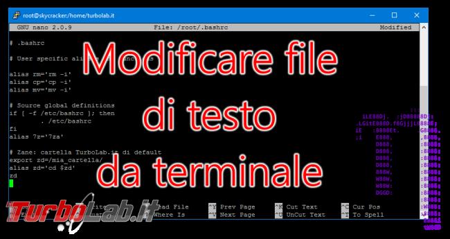 """Guida: modificare file configurazione Linux Ubuntu/CentOS terminale è facile """"nano"""" (alternativa """"vi"""") - vi nano terminale spotlight"""