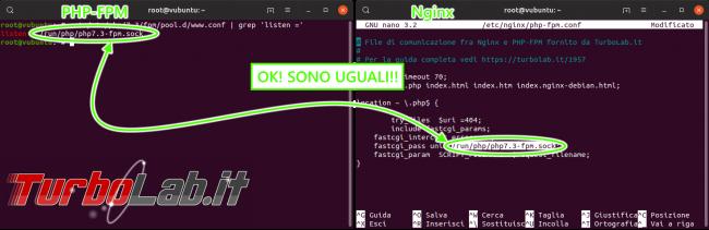 Guida Nginx PHP 7.3: come attivare/installare PHP-FPM Nginx Ubuntu/CentOS - nginx php-fpm socket ok