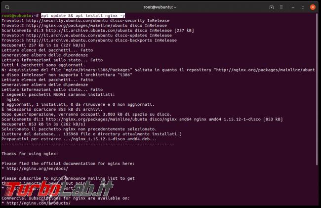 Guida Nginx Ubuntu CentOS: come installare configurare Nginx Linux - apt install nginx