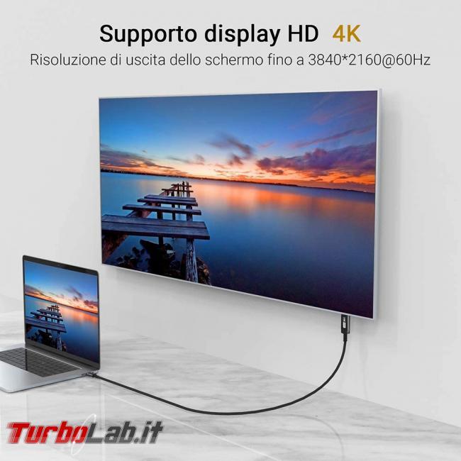 [guida] notebook USB Type-C monitor HDMI: come collegare PC portatile TV schermo esterno - pc notebook schermo esterno