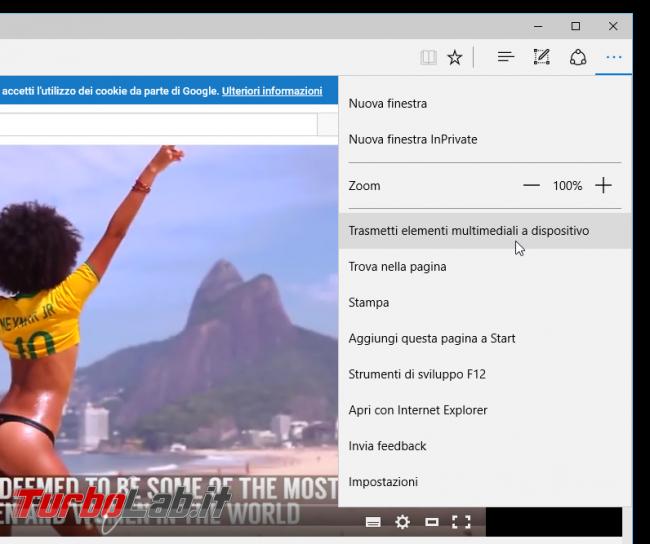 Guida novità Microsoft Edge, aggiornamento novembre (autunno 2015) - microsoft edge streaming trasmetti elementi multimediali