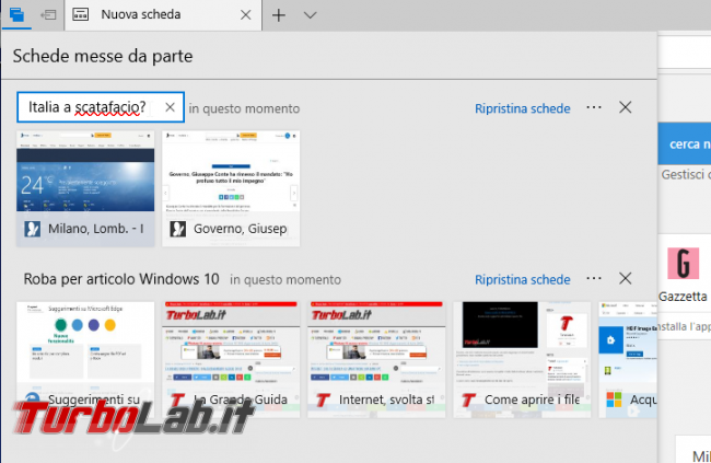 Guida novità Microsoft Edge Windows 10 1809