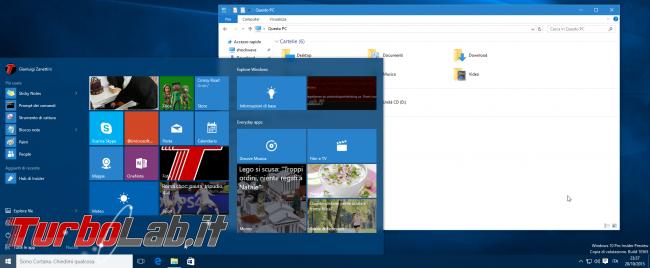 Guida novità Windows 10 1511, aggiornamento novembre (autunno 2015)