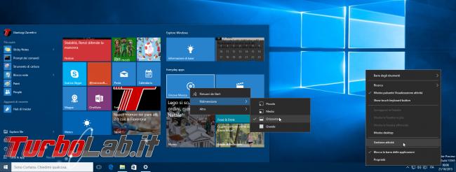Guida novità Windows 10 1511, aggiornamento novembre (autunno 2015) - windows 10.1 menu