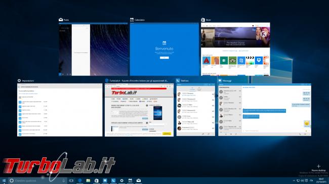 Guida novità Windows 10 1511, aggiornamento novembre (autunno 2015) - windows 10.1 task view