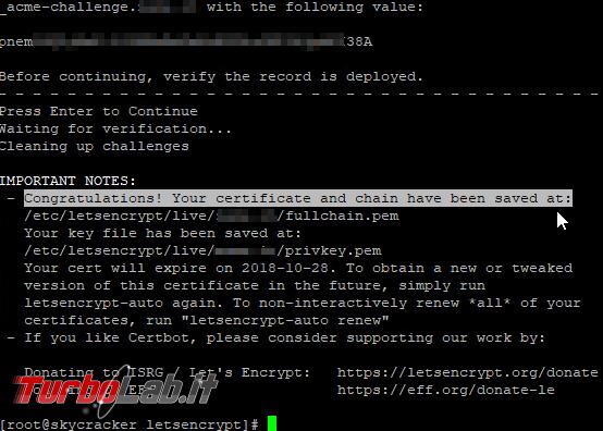 "Guida ottenere certificato HTTPS ""wildcard"" gratis Let's Encrypt (*.miosito.com) - Mobile_zShot_1532978785"