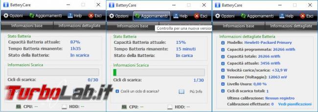 Guida PC portatile: 4 programmi visualizzare stato salute batteria