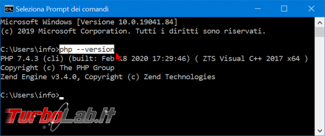 Guida PHP 7.4 Windows 10: installazione configurazione Apache - zShotVM_1582392418