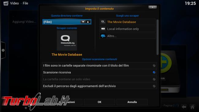 """Guida rapida Kodi (XBMC) - PC come """"media center"""" salotto - kodi_04_video_scraper"""