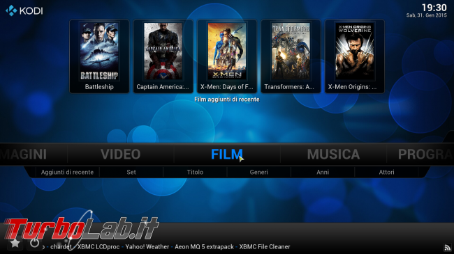 "Guida rapida Kodi (XBMC) - PC come ""media center"" salotto - kodi_05_filmrecenti"