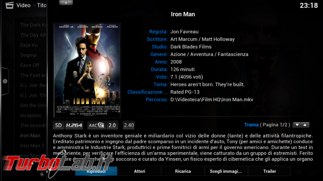 "Guida rapida Kodi (XBMC) - PC come ""media center"" salotto - kodi_07_ironman_info"