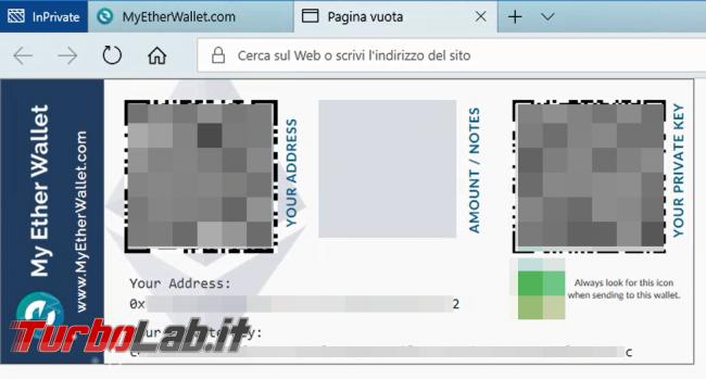 Guida rapida MyEtherWallet (MEW) - portamonete/wallet Ethereum token ERC20 (video)