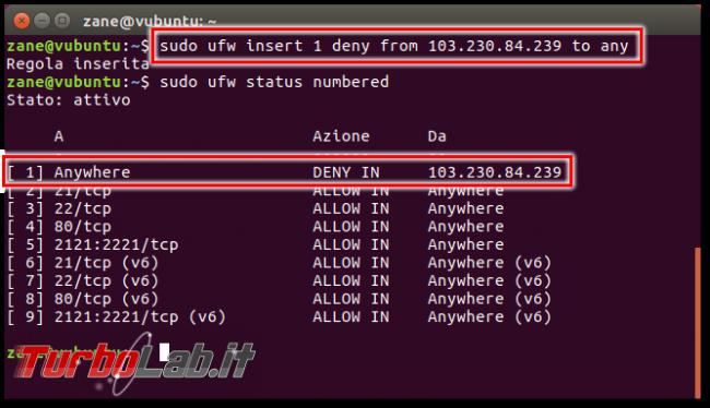 Guida rapida ufw - Come attivare/configurare firewall Ubuntu Desktop/Server linea comando: aprire porte, bloccare connessioni indirizzi IP - Schermata del 2016-11-12 09-48-48