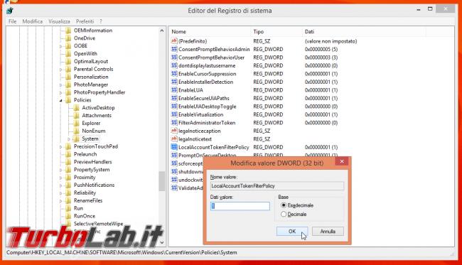 Guida: ri-abilitare condivisioni amministrative (ADMIN$, C$) Windows 10
