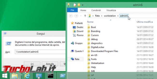 Guida: ri-abilitare condivisioni amministrative (ADMIN$, C$) Windows 10 - condivisione amministrativa ADMIN