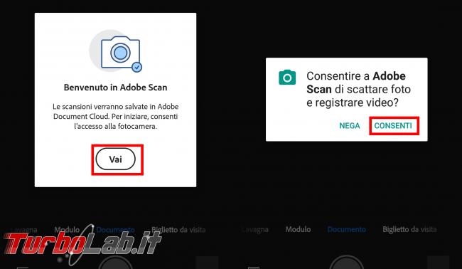 Guida scanner Android: come scannerizzare fogli telefono Adobe Scan (alternativa CamScanner)