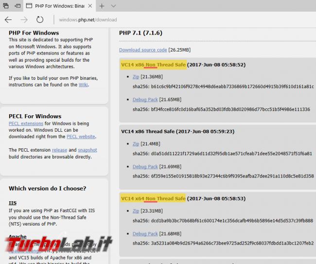 Guida server web: come installare/configurare PHP Apache Windows 10 - php windows download