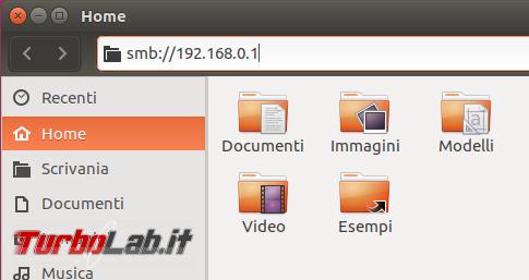 Guida Ubuntu: come accedere cartelle condivise rete locale (LAN)