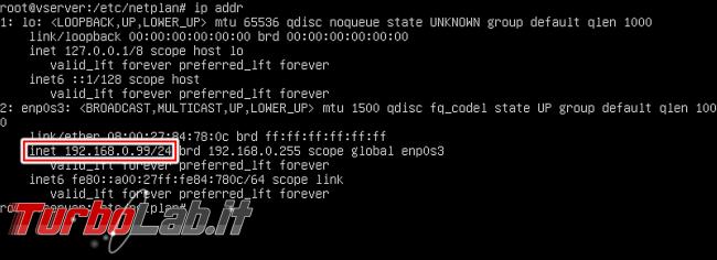 Guida Ubuntu Server 20.04: come impostare manualmente indirizzo rete ( quando /etc/network/interfaces non funziona)