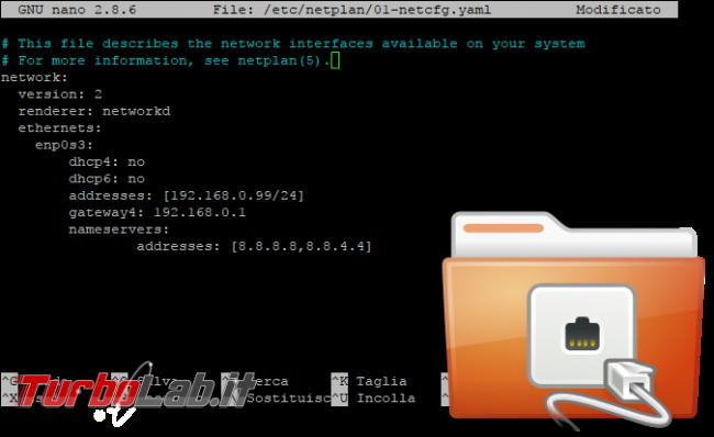 Guida Ubuntu Server 20.04: come impostare manualmente indirizzo rete ( quando /etc/network/interfaces non funziona) - ubuntu server ip statico network interfaces spotlight