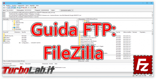 Guida: upload download via SSH (SFTP/SCP) Windows Linux, linea comando interfaccia grafica - guida filezilla (14)