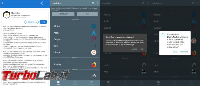 Guida UserLand: sistema più semplice installare Ubuntu ( non solo) dispositivi Android [no root]