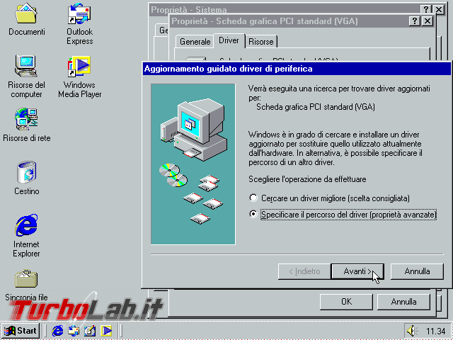 Guida VirtualBox: installare/configurare Windows 95/98/ME driver video funzionante ed alta risoluzione (macchina virtuale VM) - VirtualBox_Windows ME_30_09_2017_11_34_58