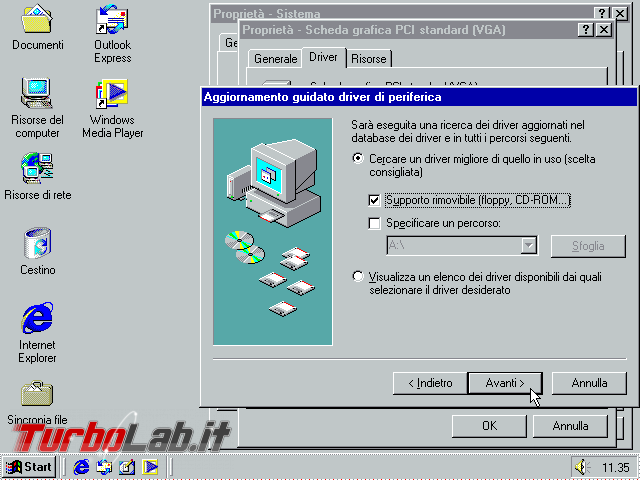 Guida VirtualBox: installare/configurare Windows 95/98/ME driver video funzionante ed alta risoluzione (macchina virtuale VM) - VirtualBox_Windows ME_30_09_2017_11_35_12