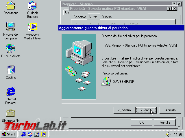 Guida VirtualBox: installare/configurare Windows 95/98/ME driver video funzionante ed alta risoluzione (macchina virtuale VM) - VirtualBox_Windows ME_30_09_2017_11_36_11