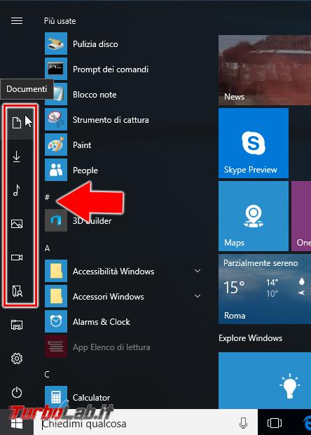 """Guida Windows 10: 10 """"trucchi"""" personalizzare menu Start"""