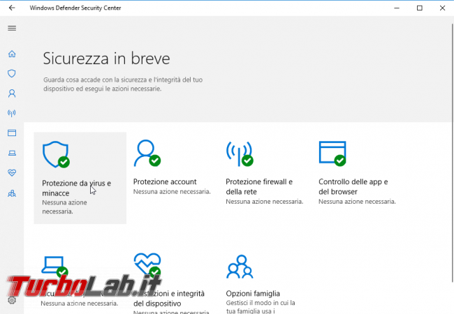 "Guida Windows 10: attivare ""secondo antivirus"" grazie Analisi periodica Windows Defender"