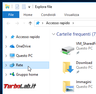 Guida Windows 10: come accedere cartelle condivise rete locale (LAN)