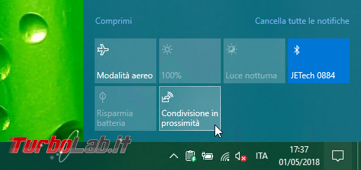 Guida Windows 10: come aggiungere, rimuovere riordinare Azioni rapide (Quick actions) Centro notifiche