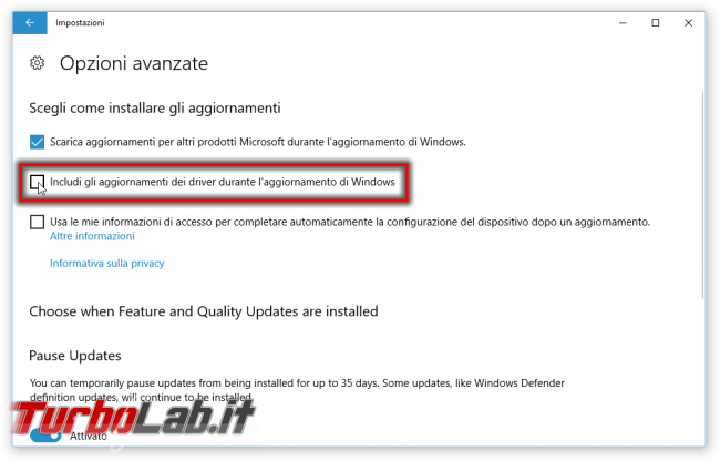 Guida Windows 10: come bloccare aggiornamento automatico driver Windows Update (ExcludeWUDriversInQualityUpdate)